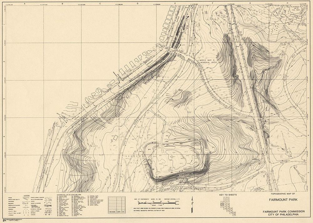 Fairmount Park, 1981, Map F-8