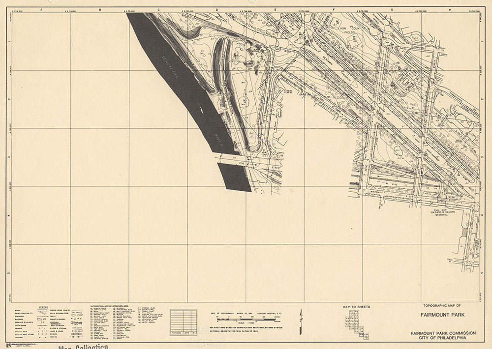 Fairmount Park, 1981, Map F-19