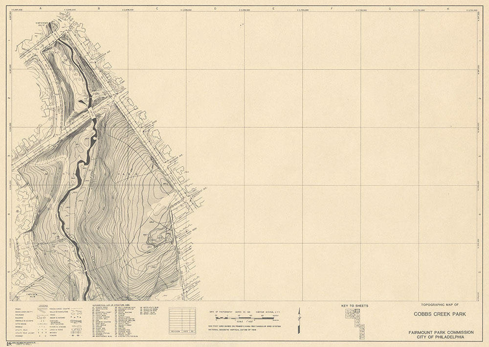 Cobbs Creek Park, 1981, Map C-3