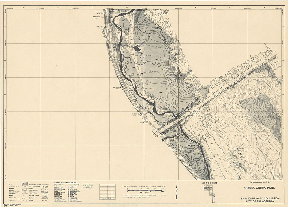 Cobbs Creek Park, 1981, Map C-4