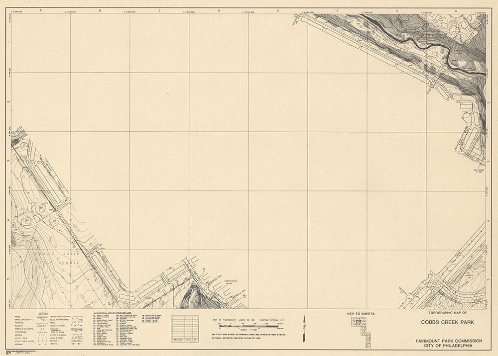 Cobbs Creek Park, 1981, Map C-5