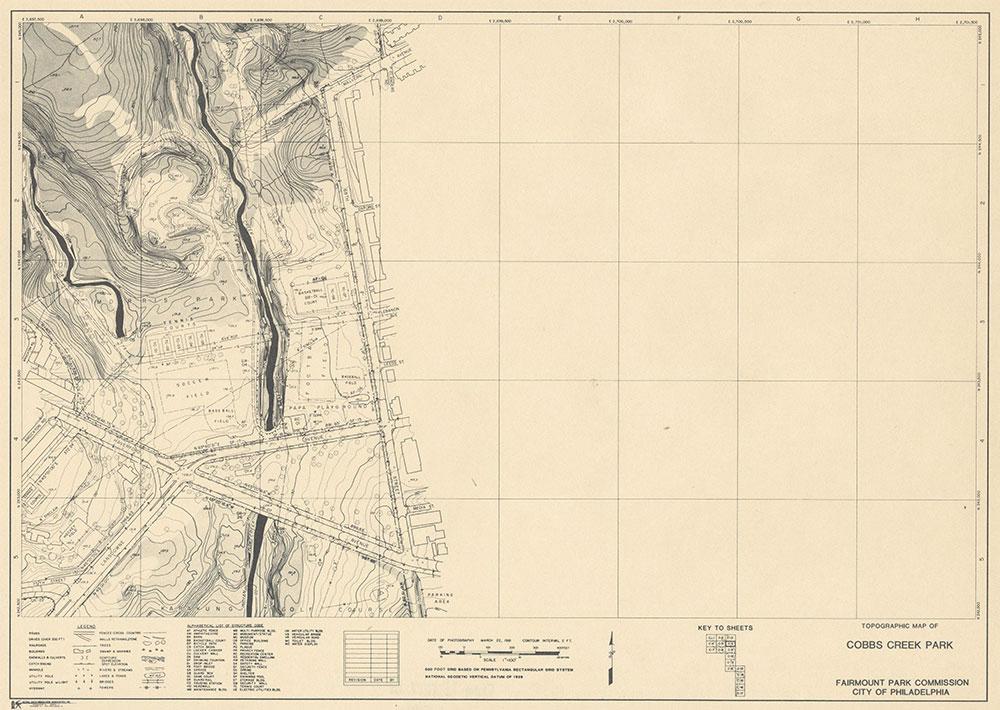 Cobbs Creek Park, 1981, Map C-6