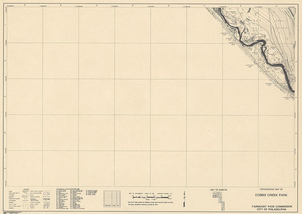 Cobbs Creek Park, 1981, Map C-7