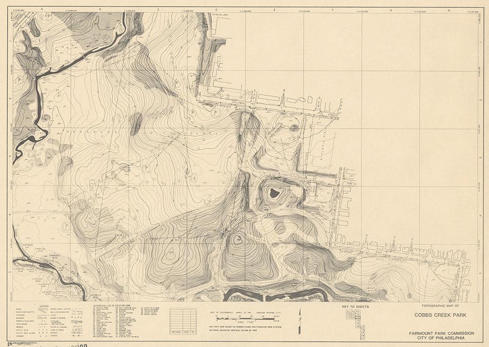 Cobbs Creek Park, 1981, Map C-9