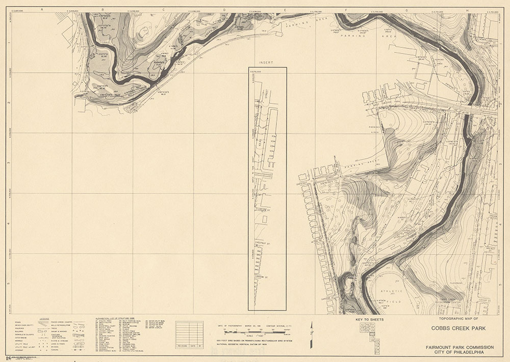 Cobbs Creek Park, 1981, Map C-10