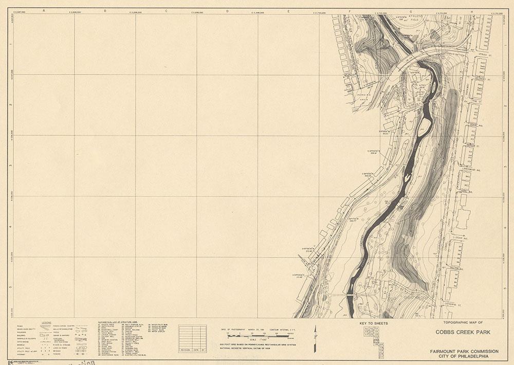 Cobbs Creek Park, 1981, Map C-11