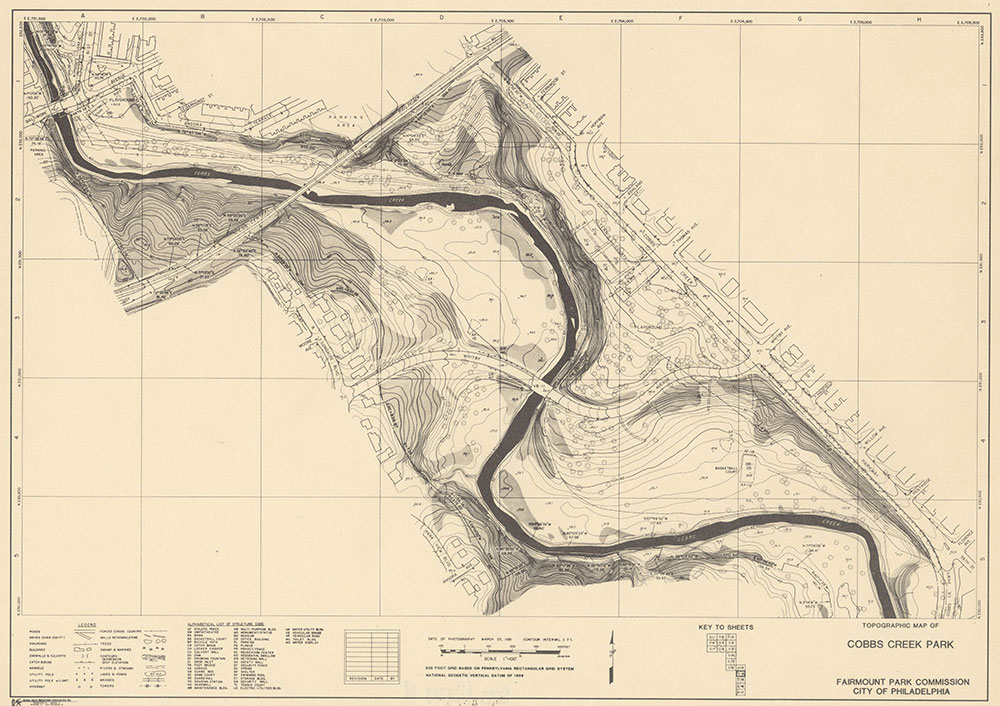 Cobbs Creek Park, 1981, Map C-14