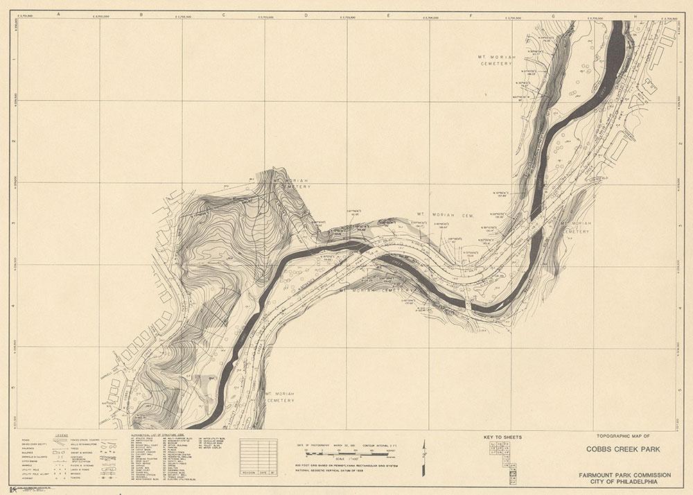 Cobbs Creek Park, 1981, Map C-15