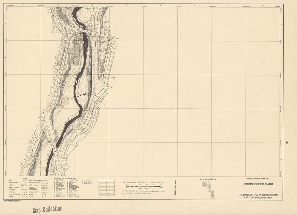 Cobbs Creek Park, 1981, Map C-16