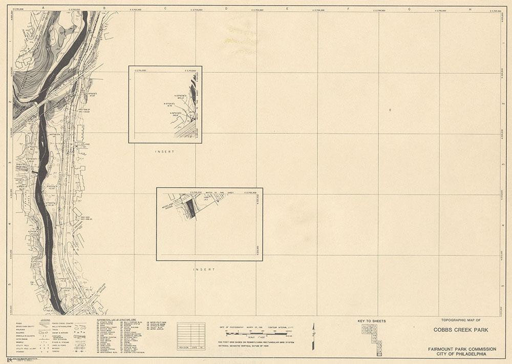 Cobbs Creek Park, 1981, Map C-17