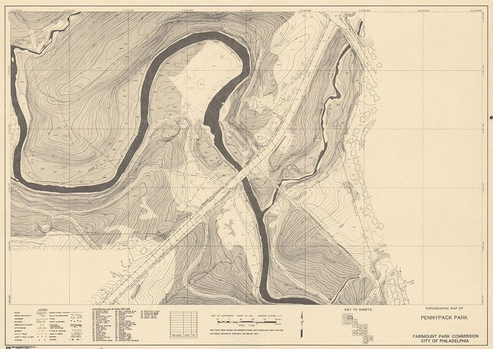 Pennypack Park, 1981, Map P-4