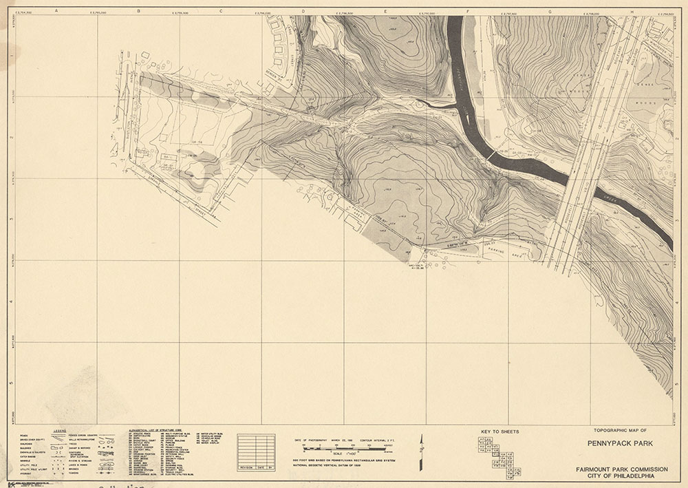 Pennypack Park, 1981, Map P-9