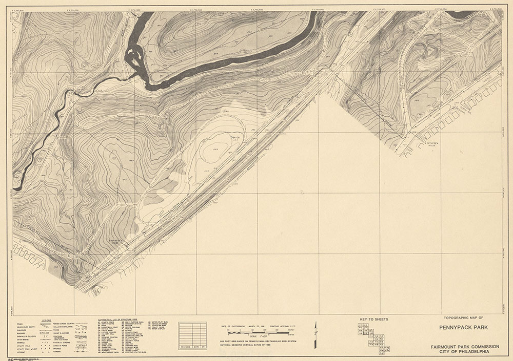 Pennypack Park, 1981, Map P-11
