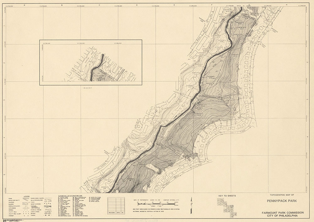 Pennypack Park, 1981, Map P-13