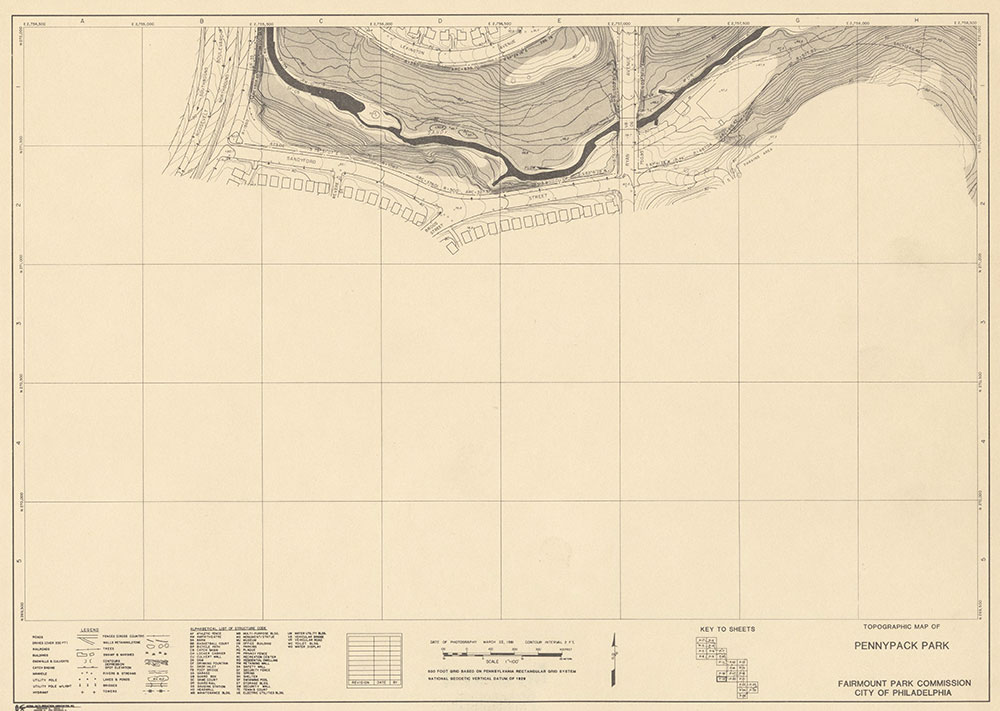 Pennypack Park, 1981, Map P-19