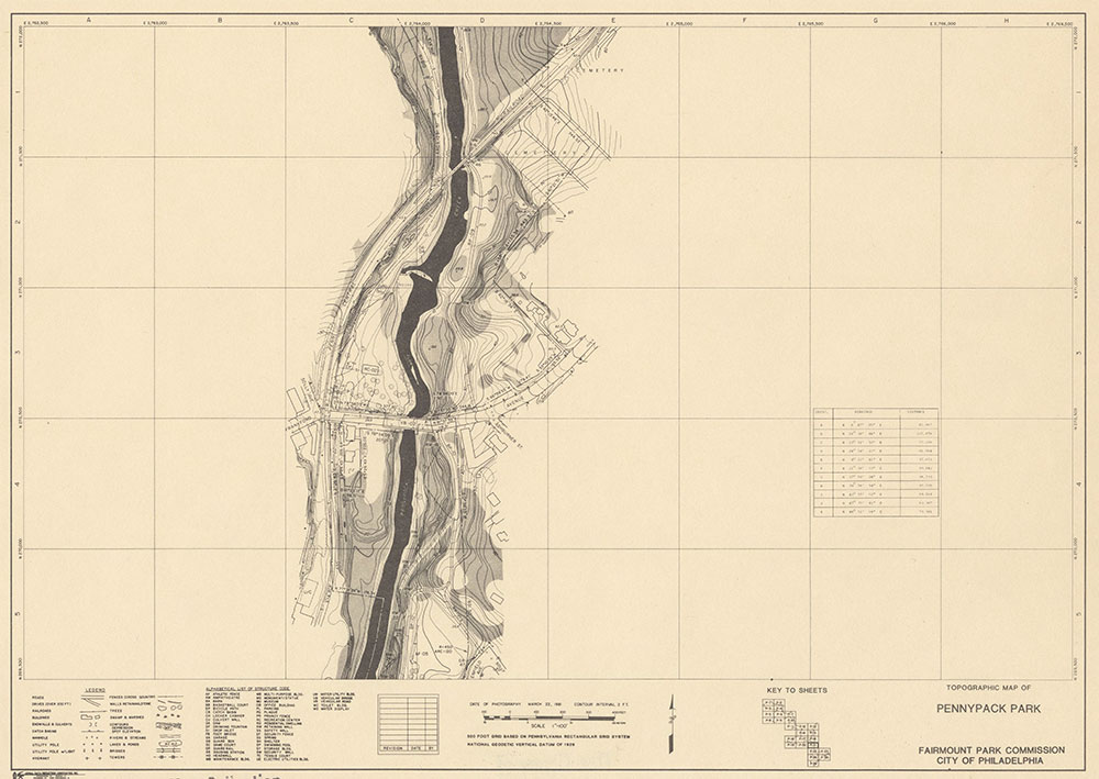 Pennypack Park, 1981, Map P-21