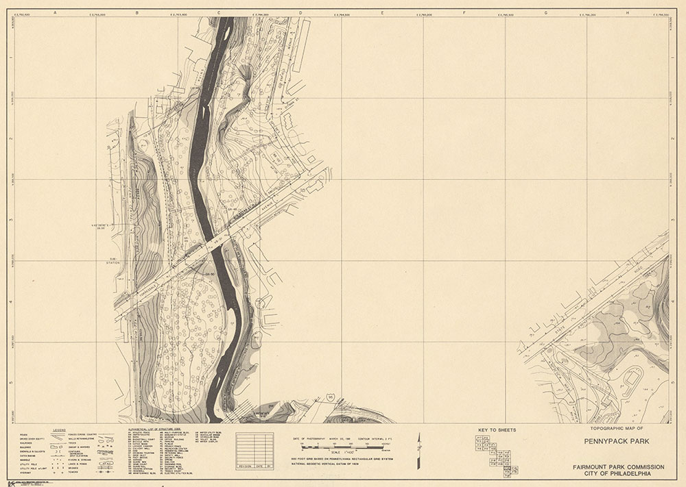 Pennypack Park, 1981, Map P-22