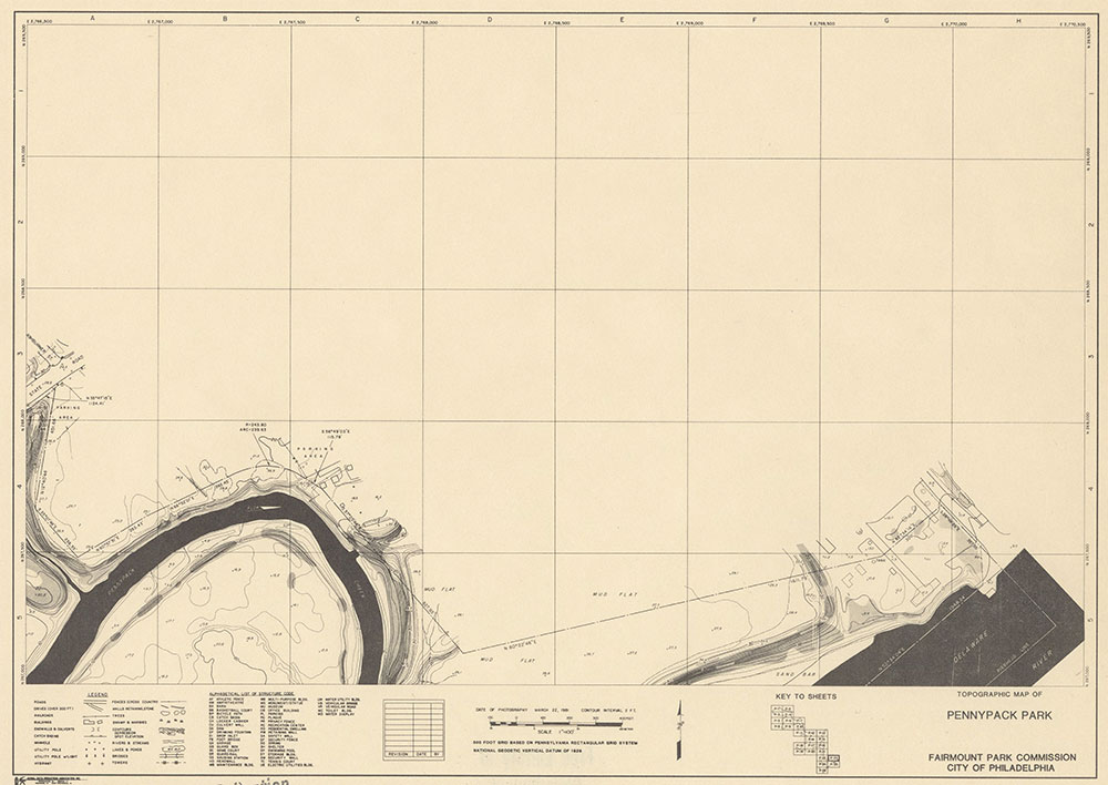 Pennypack Park, 1981, Map P-23