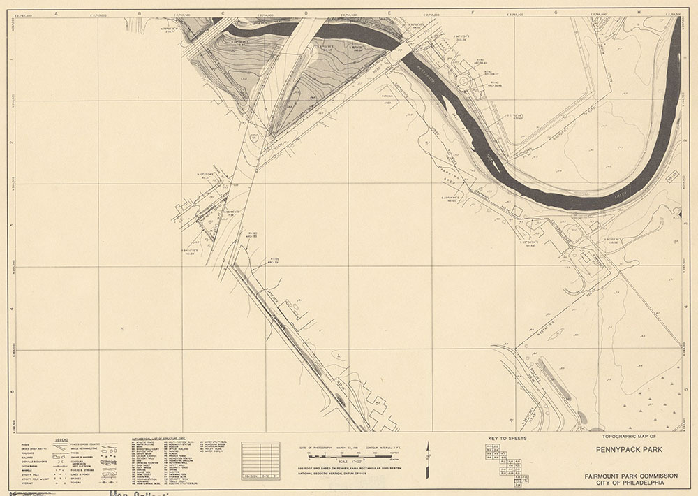 Pennypack Park, 1981, Map P-24
