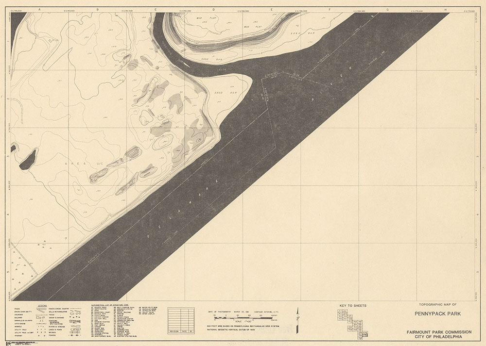 Pennypack Park, 1981, Map P-25