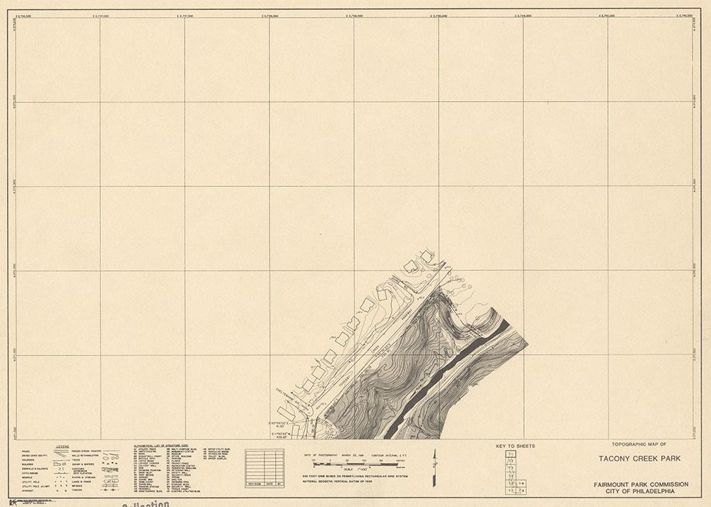 Tacony Creek Park, 1981, Map T-1