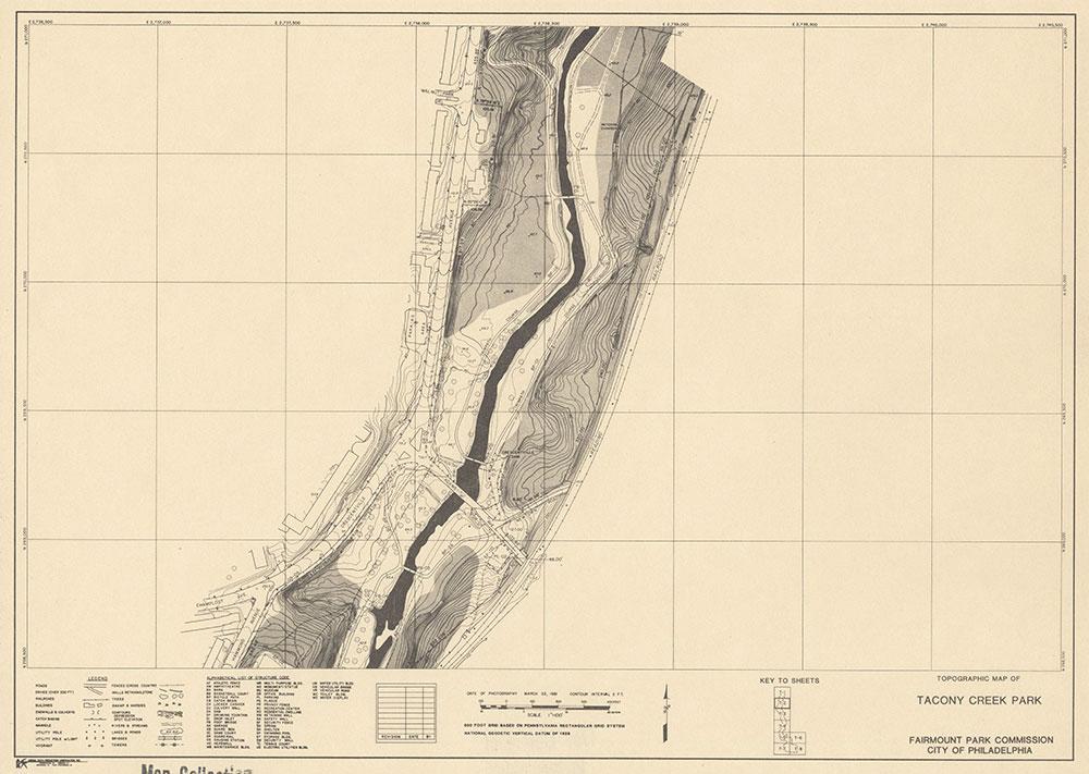Tacony Creek Park, 1981, Map T-2