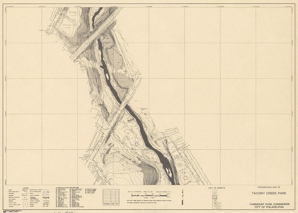 Tacony Creek Park, 1981, Map T-3