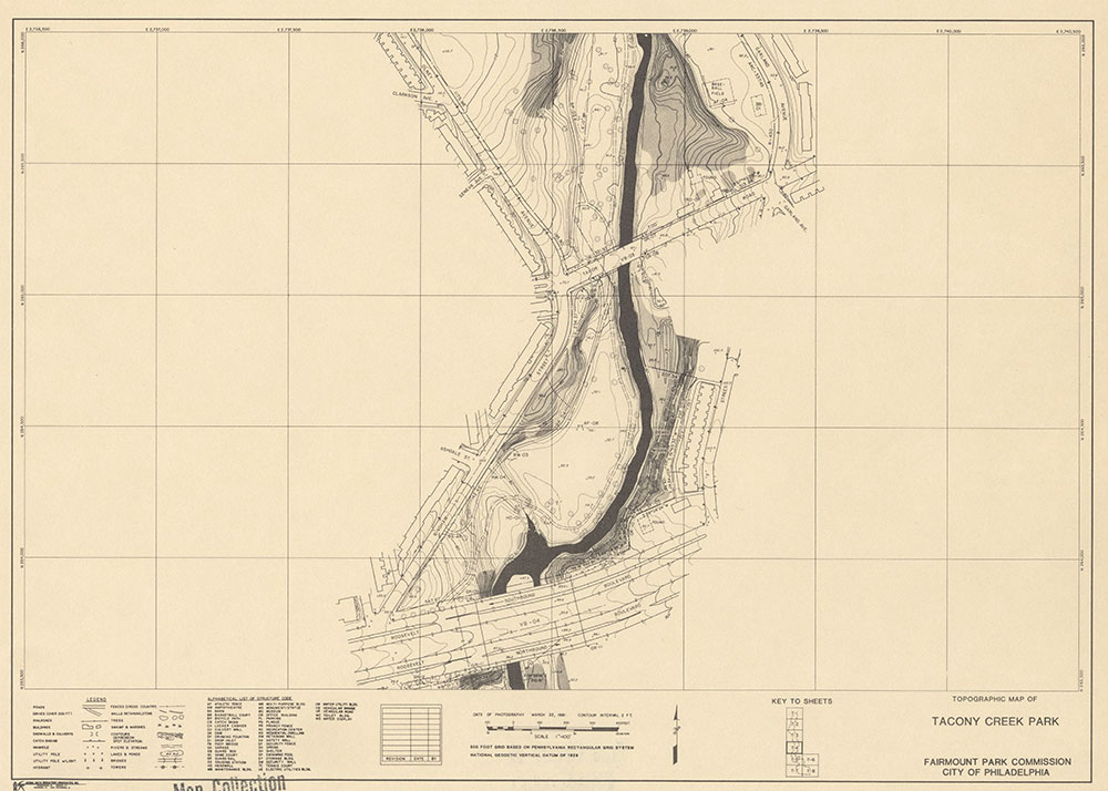 Tacony Creek Park, 1981, Map T-4