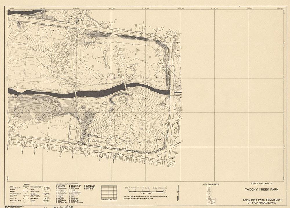 Tacony Creek Park, 1981, Map T-8