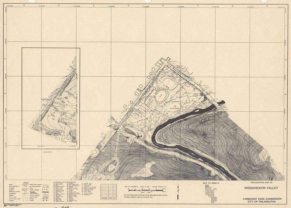 Wissahickon Valley, 1981, Map W-1