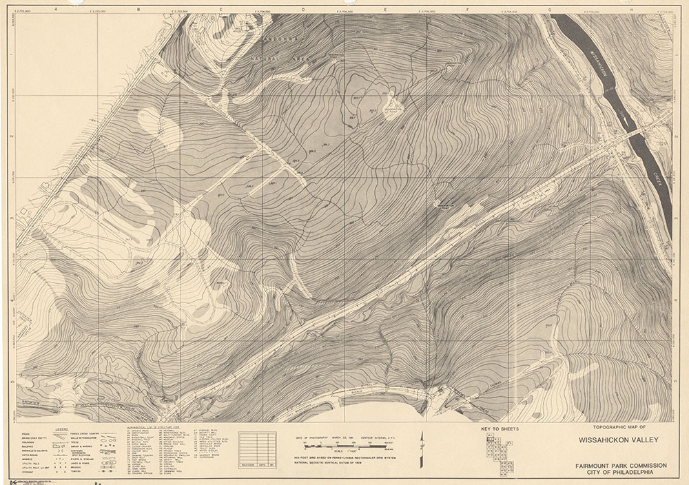 Wissahickon Valley, 1981, Map W-2