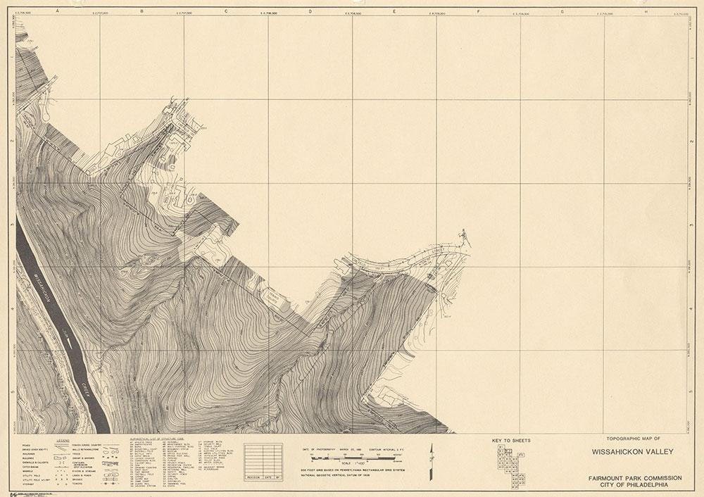 Wissahickon Valley, 1981, Map W-3