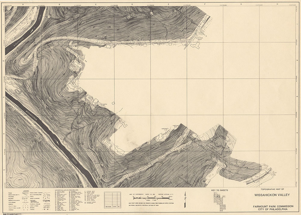 Wissahickon Valley, 1981, Map W-5