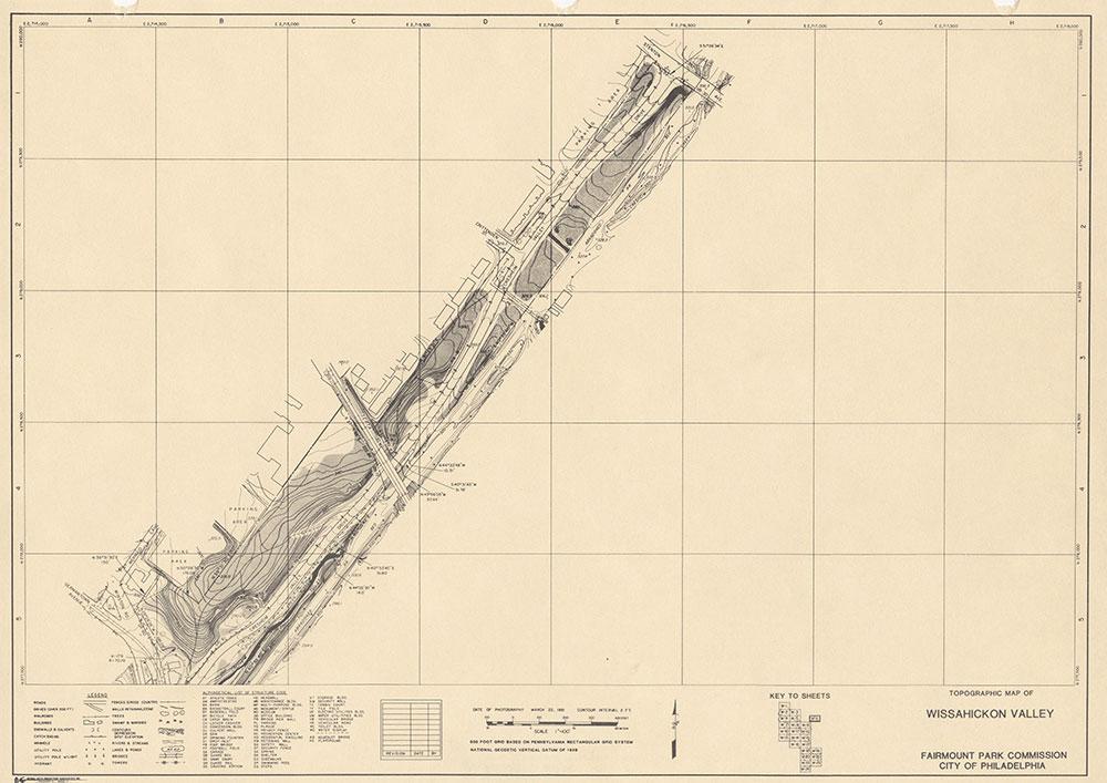 Wissahickon Valley, 1981, Map W-6