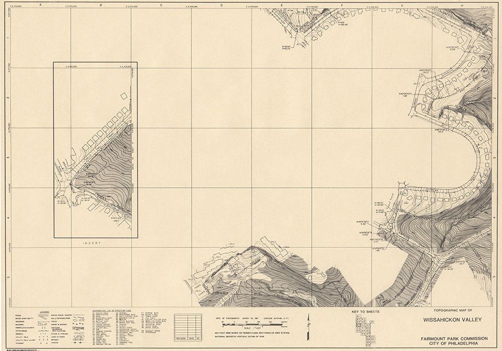 Wissahickon Valley, 1981, Map W-7