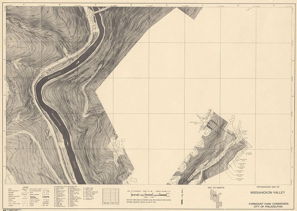Wissahickon Valley, 1981, Map W-8