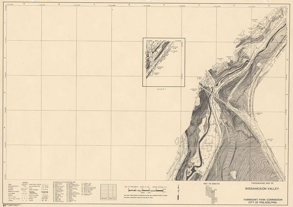 Wissahickon Valley, 1981, Map W-9
