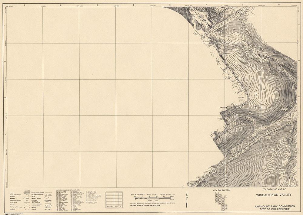 Wissahickon Valley, 1981, Map W-10