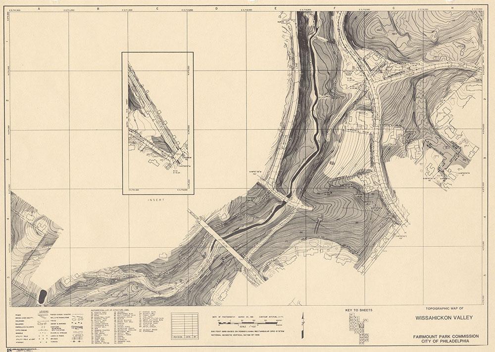 Wissahickon Valley, 1981, Map W-12
