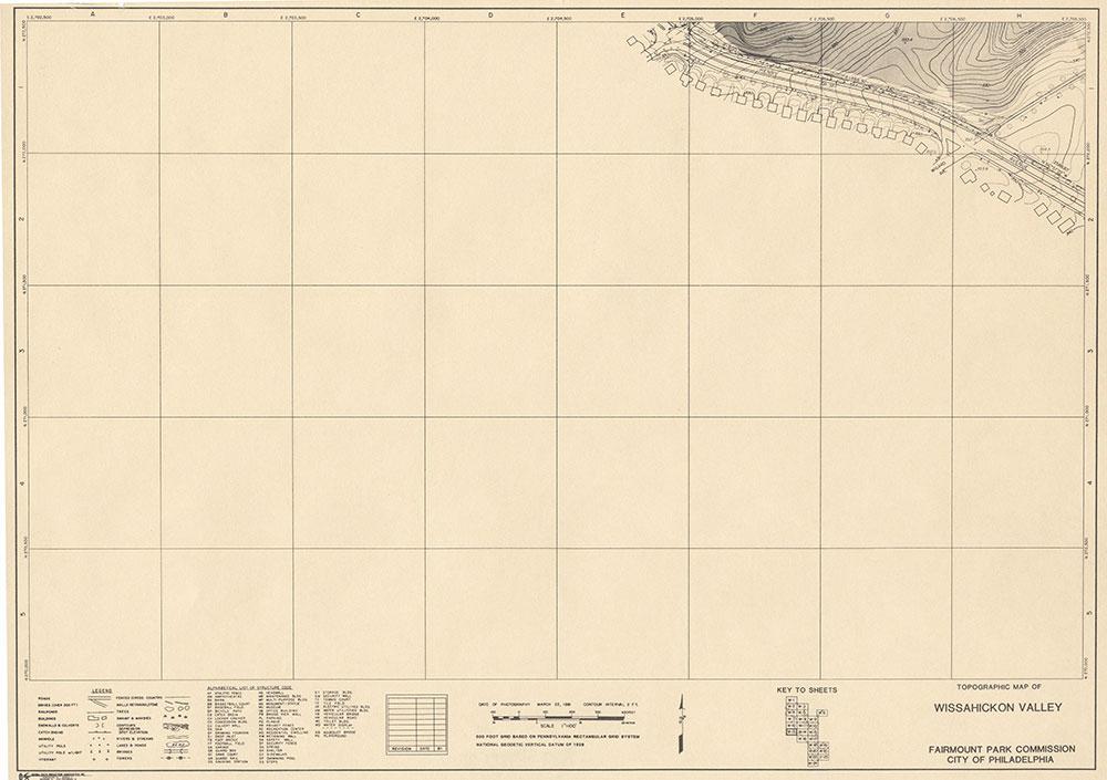Wissahickon Valley, 1981, Map W-13