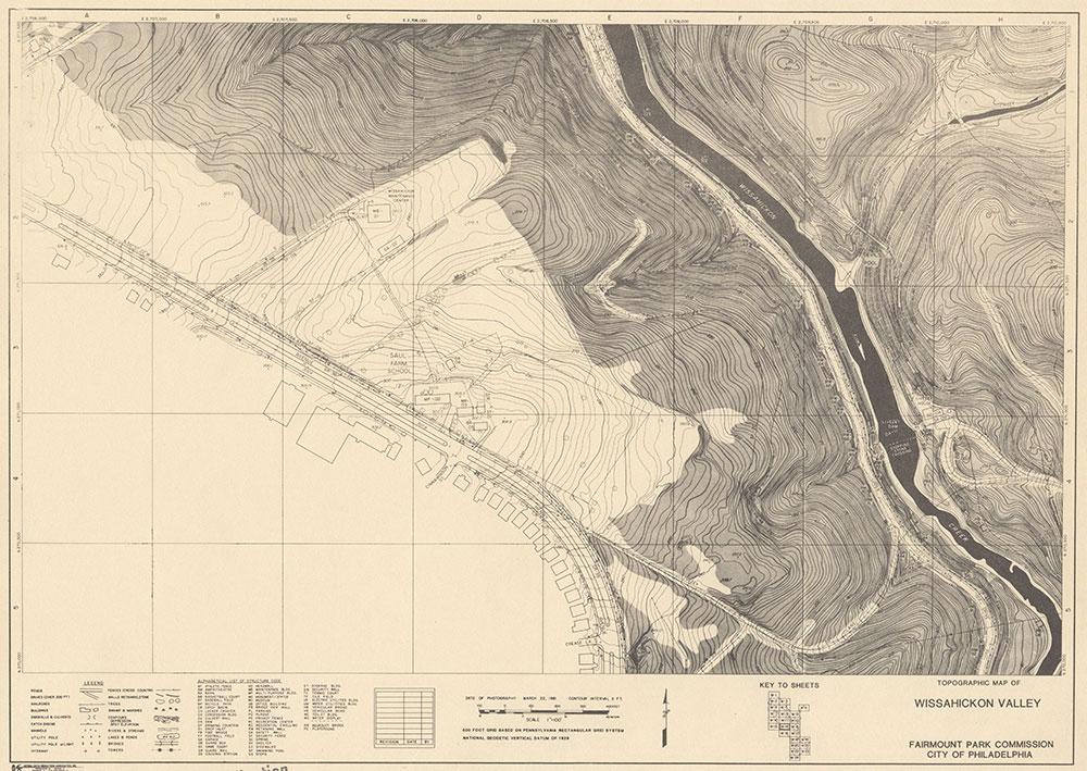Wissahickon Valley, 1981, Map W-14
