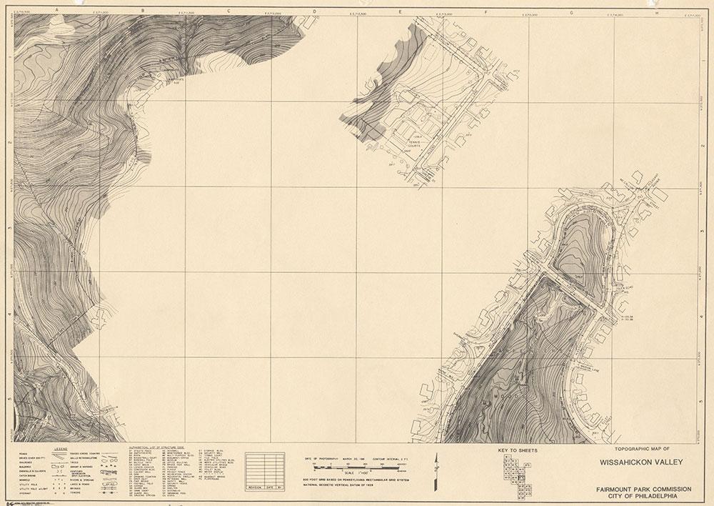 Wissahickon Valley, 1981, Map W-15