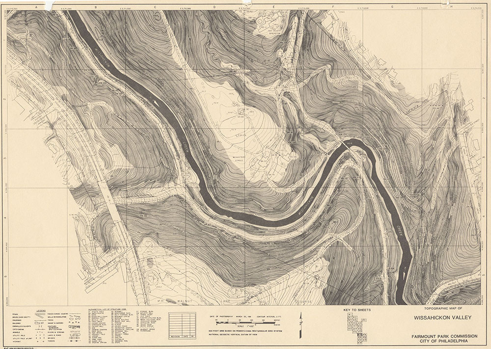 Wissahickon Valley, 1981, Map W-18
