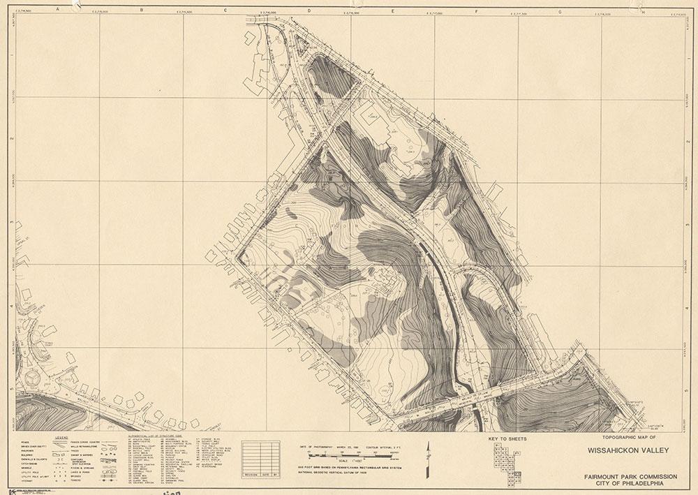 Wissahickon Valley, 1981, Map W-19