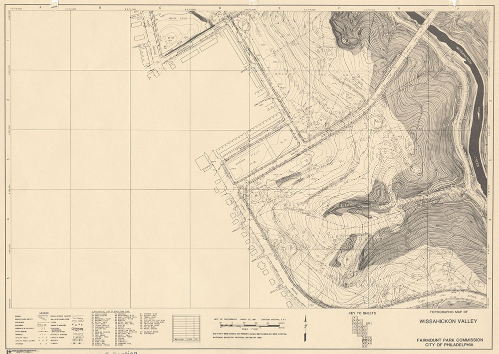 Wissahickon Valley, 1981, Map W-20