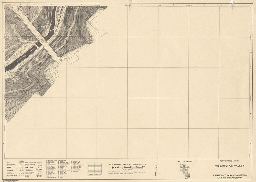 Wissahickon Valley, 1981, Map W-23