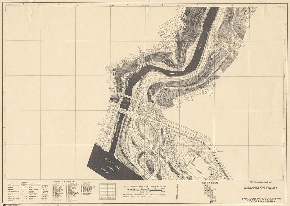 Wissahickon Valley, 1981, Map W-24