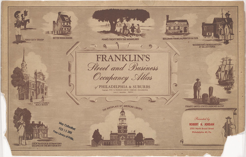 Franklin's Street and Business Occupancy Atlas of Philadelphia & Suburbs, 1946, Title Page