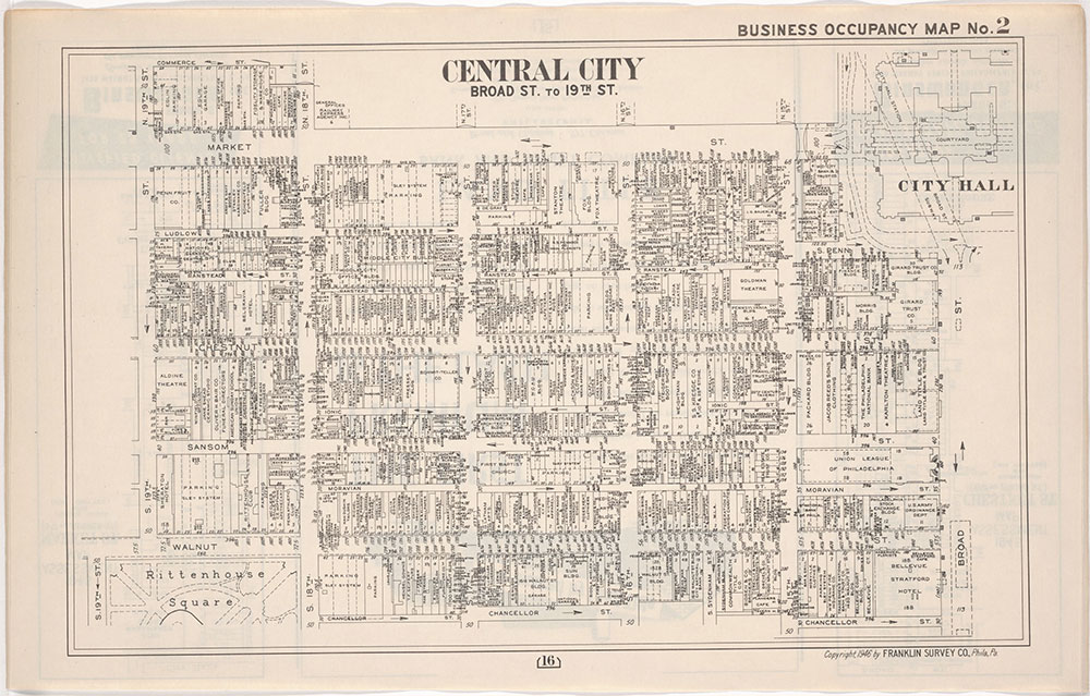 Franklin's Street and Business Occupancy Atlas of Philadelphia & Suburbs, 1946, Occupancy Map 2