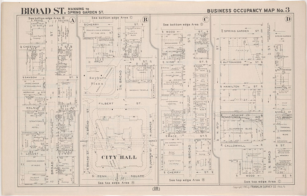 Franklin's Street and Business Occupancy Atlas of Philadelphia & Suburbs, 1946, Occupancy Map 3